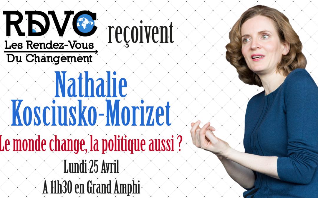 Nathalie Kosciusko-Morizet : Le monde change, la politique aussi ?